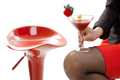 Woman holding cocktail Royalty Free Stock Image