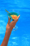 Woman holding a Cocktail Royalty Free Stock Photos