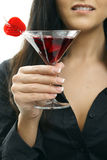 Woman holding cocktail Stock Photography