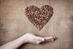 Free Woman Holding Coffee Heart Royalty Free Stock Photos - 22994998