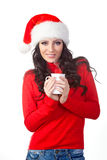 Woman holding a coffee mug Stock Image