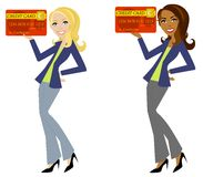 Woman Holding Credit Card Stock Images