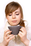 woman holding a cup Royalty Free Stock Image