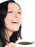 Woman holding cup of coffee Royalty Free Stock Images