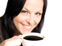 Woman holding cup of coffee Royalty Free Stock Photo
