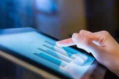 Woman holding digital tablet, closeup Stock Images