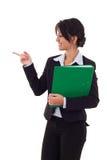 Woman holding a folder Royalty Free Stock Photos