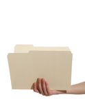 Woman Holding Folder Royalty Free Stock Images