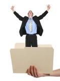 Woman Holding Folder Royalty Free Stock Image
