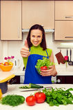 Woman holding fresh salad Royalty Free Stock Photography