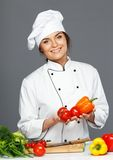 Woman holding fresh vegetables Royalty Free Stock Image
