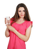 Woman holding a glass Stock Photography
