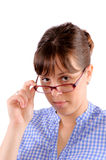 Woman holding glasses Royalty Free Stock Photo
