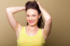 Woman holding hair up Royalty Free Stock Photos