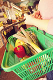 Fruit shopper Stock Image
