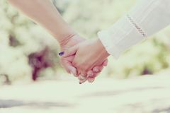 Woman Holding Hands Stock Photography