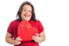 Woman holding heart Stock Image
