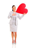 Woman holding heart Stock Photography