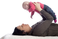 Woman  holding her baby Royalty Free Stock Photos