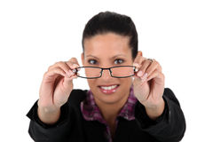 Free Woman Holding Her Glasses Stock Photos - 26935073