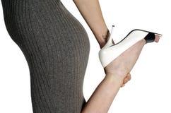 Woman Holding High Heel Stock Photos