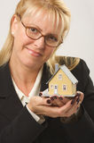Woman Holding House Stock Images