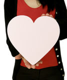 Woman holding love heart Royalty Free Stock Images