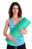 Woman Holding a Mat Stock Photos