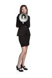 Woman Holding Megaphone Stock Image