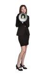 Woman Holding Megaphone Stock Image