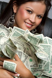 Woman Holding Money Royalty Free Stock Photo