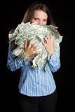 Woman Holding Money Royalty Free Stock Image