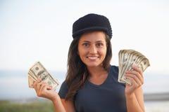 Woman holding money Stock Photography