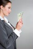 Woman Holding Money Royalty Free Stock Photos