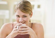 Woman Holding Mug royalty free stock photography