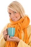 Woman holding mug Stock Image