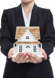 Woman Holding New Home royalty free stock image