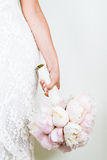 Woman Holding a nice Wedding Bouquet Stock Photo