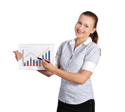 Woman holding note pad Stock Photography