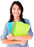 Woman holding notebooks Royalty Free Stock Photo