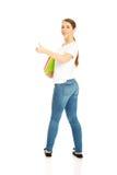 Woman holding notebooks Stock Image