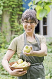 Woman holding pears Royalty Free Stock Photos