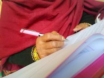 Writing on paper Royalty Free Stock Photo