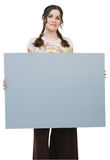 Woman holding placard Stock Image