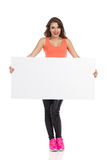 Woman Holding Placard Royalty Free Stock Photography