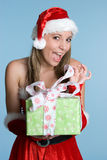 Woman Holding Present Royalty Free Stock Photo