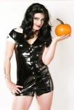 Woman holding Pumpkin Royalty Free Stock Photos
