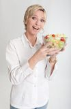 Woman holding a salad Royalty Free Stock Image