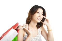 woman holding shopping bag Royalty Free Stock Photo