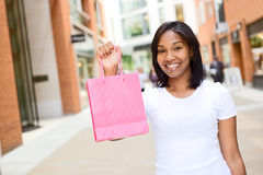 Woman holding shopping bag Stock Photography